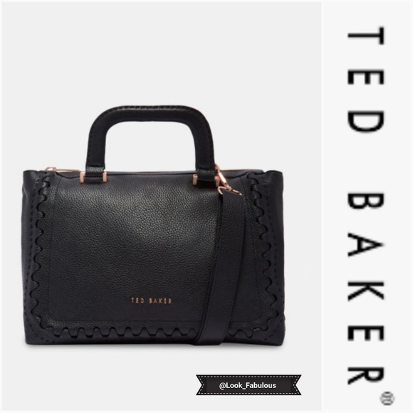 Ted Baker Handbags - NWT TED BAKER BLACK PEBBLED LEATHER OVERSIZE TOTE